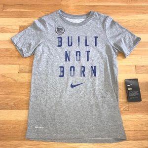 BOY'S NIKE BUILT NOT BORN DRI - FIT COTTON TSHIRT